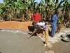 Verputzen der Dachkonstruktion