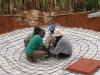 Einflechten der Bewehrung der Dachkonstruktion
