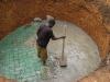 Betonieren der Bodenplatte