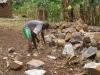Zuschlagen der Steine